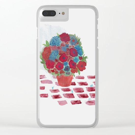 Flowerpot Clear iPhone Case