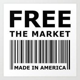 Free The Market Art Print