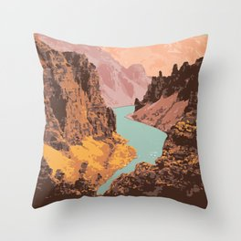 Tuktut Nogait National Park Throw Pillow