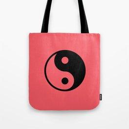 Yin Yan in red Tote Bag