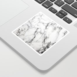 White Marble Texture Sticker