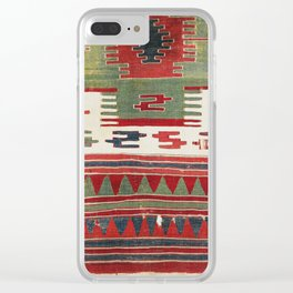 Sivrihisar  Antique Eskisehir Province Turkish Kilim Fragment Clear iPhone Case