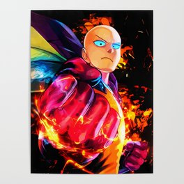 Colorful Fist Poster