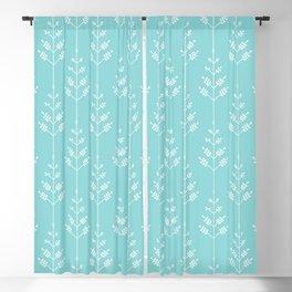 Delicate Little Tree Geometric Pattern in Light Blue Color Blackout Curtain