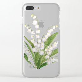 white lily of valley Clear iPhone Case