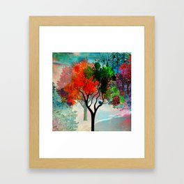 Lavish Abstract Landscape Framed Art Print