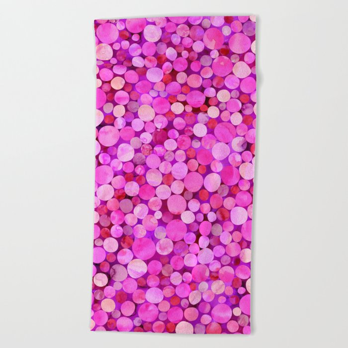 Confetti Pattern 01 Beach Towel
