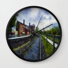 Olde Road Railway Station Wall Clock