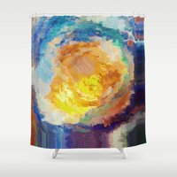 watercolour Shower Curtains featuring WaterColour by MonsterBrown