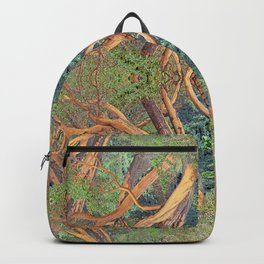 ORCAS ISLAND MADRONA TREES IN A PARALLEL REALITY FOREST Backpack