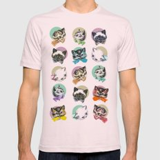 Cats & Bowties 2X-LARGE Light Pink Mens Fitted Tee