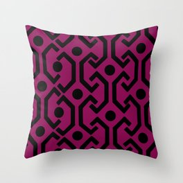 Ethnic Pattern (Purple) Throw Pillow