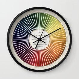 Chevreul Cercle Chromatique, 1861 Remake, vintage wash Wall Clock