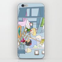 captain hook iPhone & iPod Skins featuring Neverland - baby Peter Pan and Captain Hook by Number Six