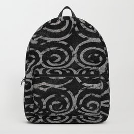 Frosty Black and White Pattern Backpack