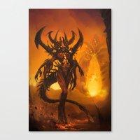 diablo Canvas Prints featuring Diablo by Vexod14