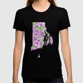 Rhode Island in Flowers T-shirt