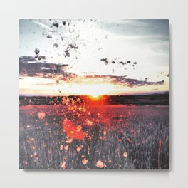 Cattail Exlposions Never Get Old Metal Print