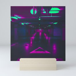 Vaporwave Neon Garage Mini Art Print