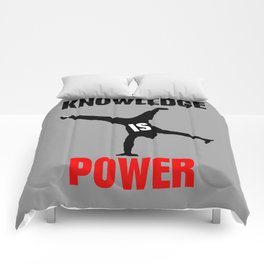 Knowledge is power Comforters