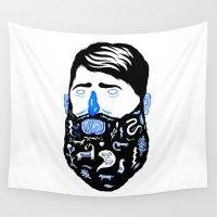 beard Wall Tapestries featuring Animal Beard by David Penela