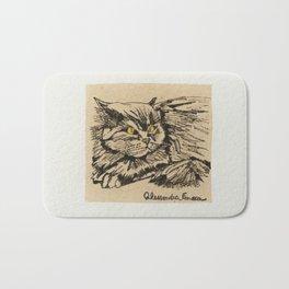 Angora cat Bath Mat