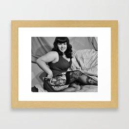"""""""A little skin"""" Framed Art Print"""
