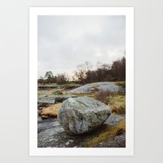 Winter landscape south of Norway Art Print