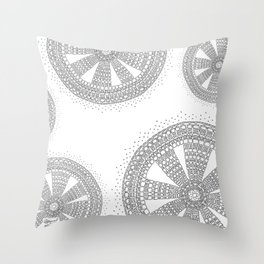 Pleasing on White Background Throw Pillow