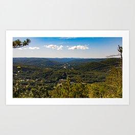High Ledge Vista Art Print