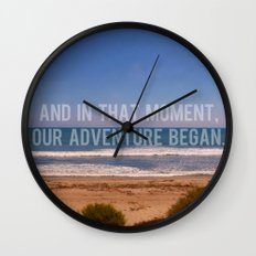 And In That Moment, Our Adventure Began Wall Clock