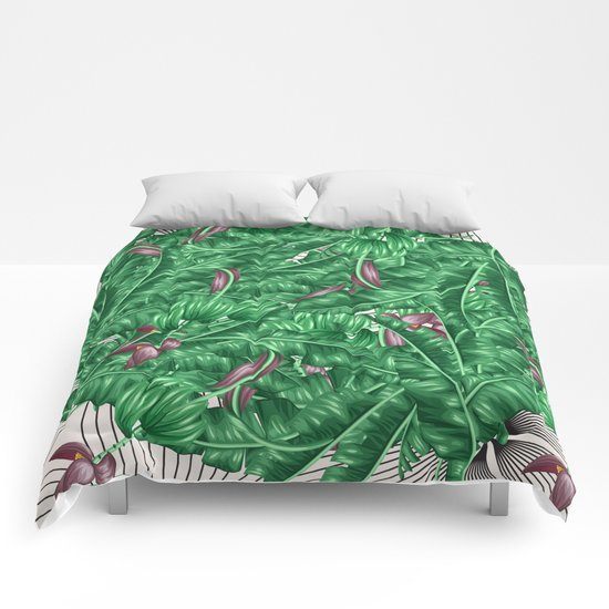 tropical nature Comforters