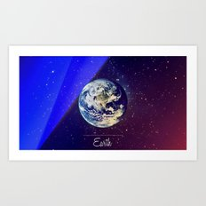 Cosmos Earth Art Print
