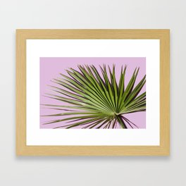 Palm on Lavender Framed Art Print