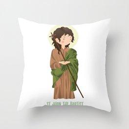 Sant John The Baptist Throw Pillow