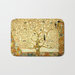 Gustav Klimt The Tree Of Life Bath Mat