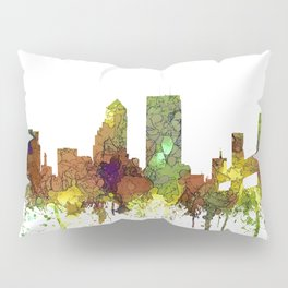 Jacksonville, Florida Skyline SG - Safari Buff Pillow Sham