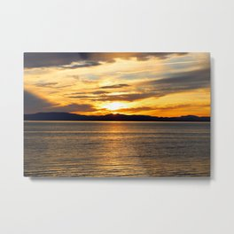 The Golden Sunset Over Quebec Metal Print