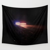 racing Wall Tapestries featuring UFO Racing by Jorgenson Art Syndicate
