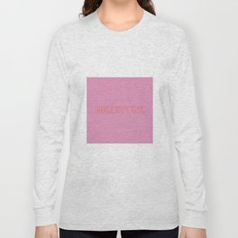 Herbivore (red on pink) Long Sleeve T-shirt