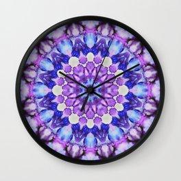 Ultra violet mandala 1 Wall Clock