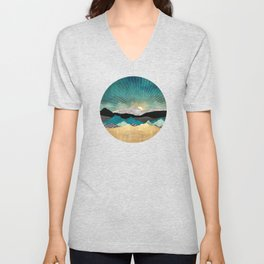Peacock Vista Unisex V-Neck
