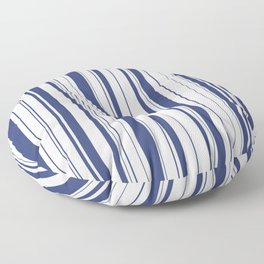 Minimalist Era - White & Indigo Blue Stripe Asymmetrical Floor Pillow