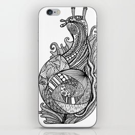 Zentangle Snail iPhone Skin