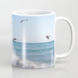 the ocean and birds Coffee Mug