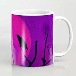 The Crow And The Pink Moon Coffee Mug