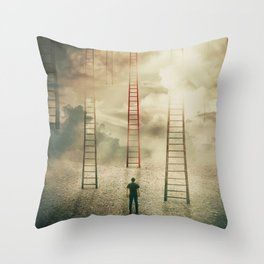 Choosing a different stairway Throw Pillow