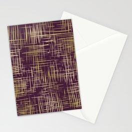 Crosshatch Plum Stationery Cards