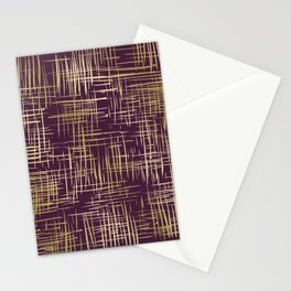 Crosshatch Plum Stationery Cards