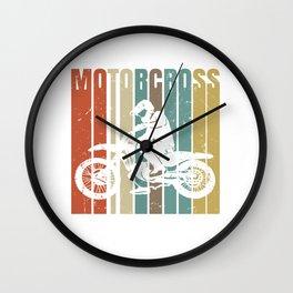 Motocross Vintage Dirt Bike Retro Wall Clock